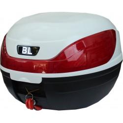Βαλίτσα μηχανής 32 λίτρων BL - 0866 λευκή/μαύρη, κόκκινο αν/κο