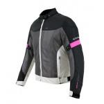 Γυναικείο καλοκαιρινό μπουφάν μηχανής AGVPro Zina grey/pink