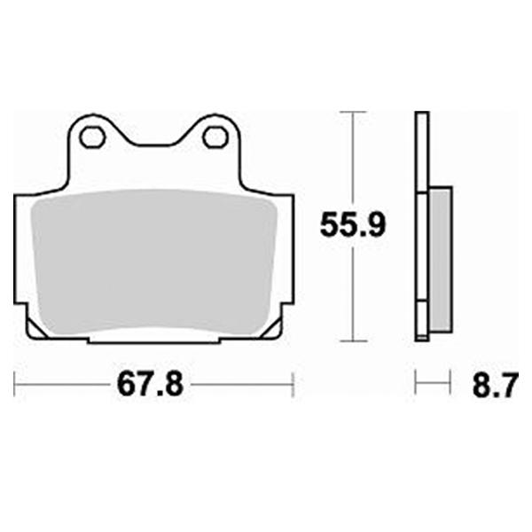 Τακάκια Braking 679SM1 (FA104,P33), XJ 600, SRX 600, FAZER 600 98-03 (R)