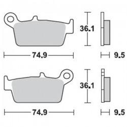 Τακάκια Braking 701SM1 (FA131,F233), XR ,CR, KLR, KLX, RM, DRZ, WR, YZ