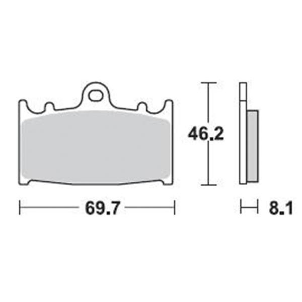 Τακάκια Braking 715SM1 (FA158), VERSYS 1000 (F), ZZR600 (F), GSF BANDIT (F), GSR (F)