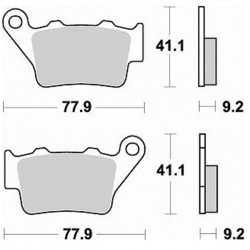 Τακάκια Braking 773SM1 (FA208, 213) XΤ 660 R/X, KTM, TTR 600 (R) , BMW F