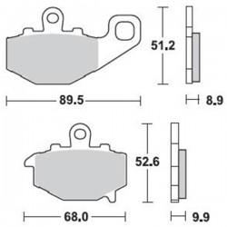 Τακάκια Braking 775SM1 (FA192), Z 750/1000 -08, Versys 650 (R)