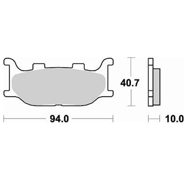 Τακάκια Braking 777SM1 (FA199), Majesty 250 (F), Majesty 400 (F), T-Max 500-07 (F)