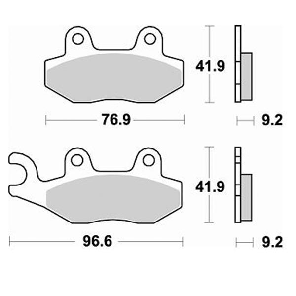Τακάκια Braking 795SM1 (FA228,P192), AGILITY 50/125 (F), GEOPOLIS 125/250 (F)