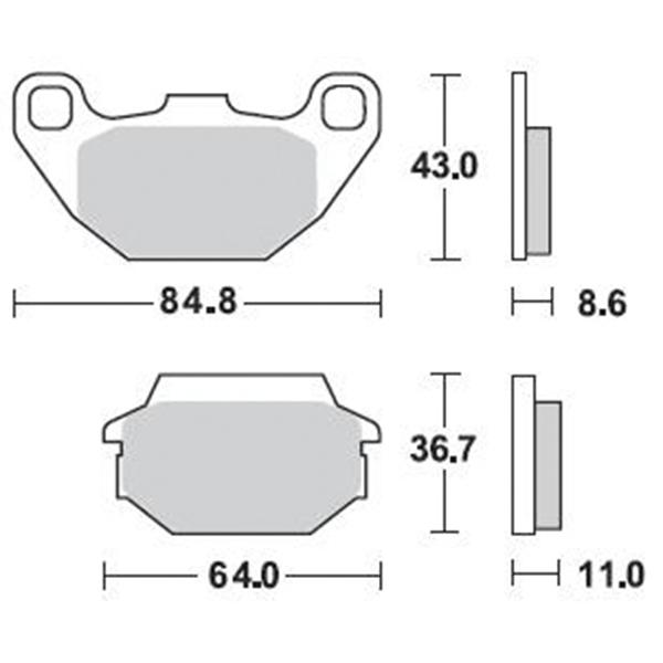 Τακάκια Braking 869SM1 (FA305), Joyride 125/150/200 (R), Agility 50/125/150/200 (F)