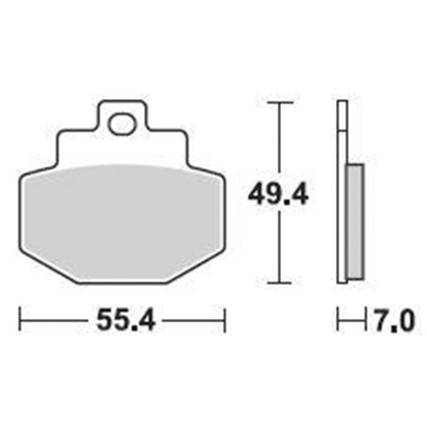 Τακάκια Braking 871SM1 (FA321), RUNNER VXR 4T 125/180/200 (R), SUPER HEXAGON 125/150 (R), VESPA GTS 125/200/250/300