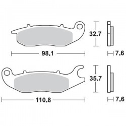 Τακάκια Braking 902SM1 (FA375), Innova CB-R/F 125