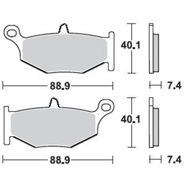 Τακάκια Braking 924SM1 (FA419), GSX-R 600/750/1000/1300 Hayabusa 08> (R)