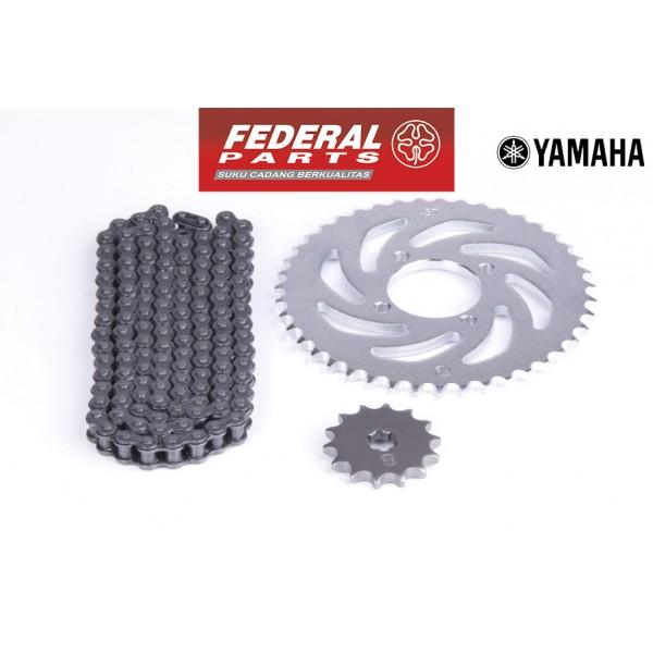 Σετ Γρανάζια Αλυσίδα για Yamaha Crypton-X Σετ Federal