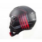 Κράνος jet ZEN ZN-700, μαύρο/κόκκινο