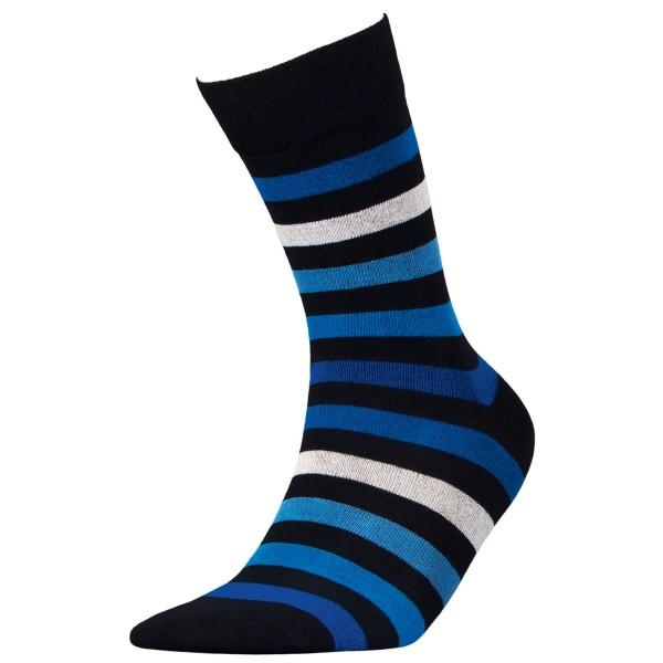 Ριγέ ανδρικές κάλτσες, μαύρο/μπλε