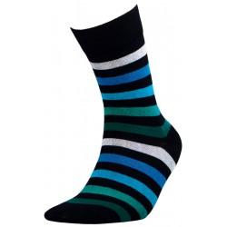Ριγέ ανδρικές κάλτσες, μαύρο/πράσινο