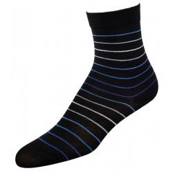 Γυναικείες κάλτσες ριγέ, μαύρο/μπλε
