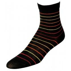 Γυναικείες κάλτσες ριγέ, μαύρο/κόκκινο