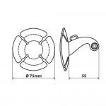 Lampa αυτοκόλλητη βάση στήριξης action camera κράνος ή ζελατίνα