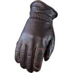 Χειμερινά δερμάτινα γάντια μηχανής Orina Harry Aquadry, καφέ