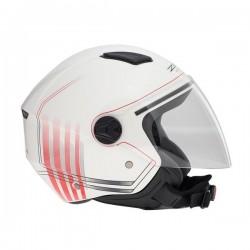 Κράνος jet ZEN ZN-700, άσπρο/κόκκινο