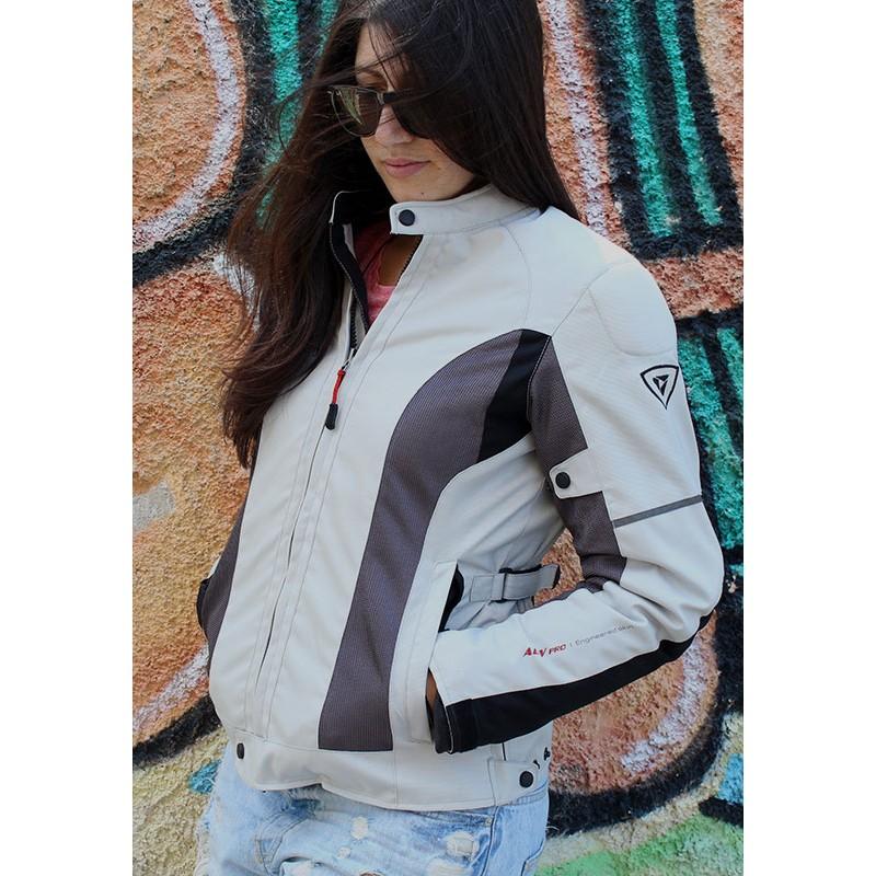 Γυναικείο μπουφάν μηχανής 4 εποχών AGVPro Elite Grey-Titanium  d5a59661b3e
